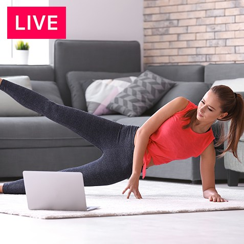 Live Online Cardio and Core Class
